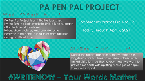 PA Pen Pal Project Information