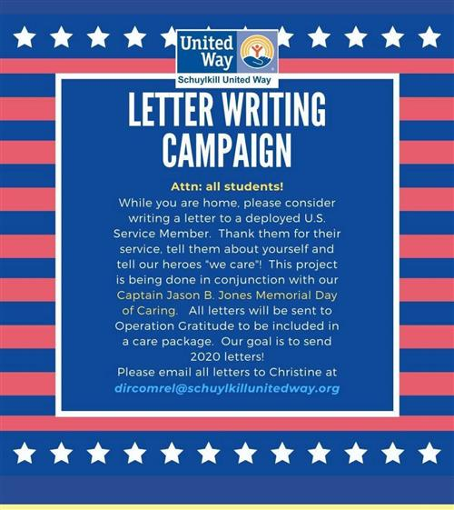 United Way Letter Writing Campaign